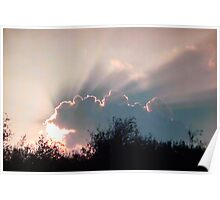 Backlit Clouds Poster