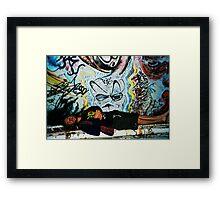 graffitti angel Framed Print