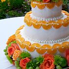 garden wedding cake by tego53