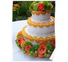 garden wedding cake Poster