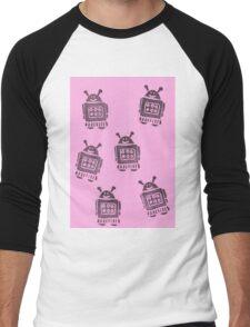 Pink Robots Men's Baseball ¾ T-Shirt