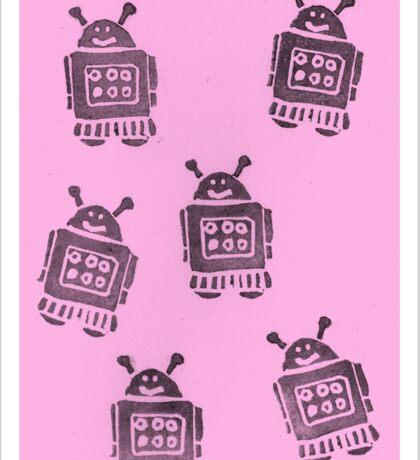 Pink Robots Sticker