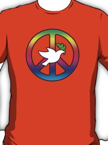 Peace Sign (With Dove of Peace) T-Shirt