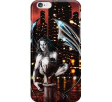 Robot Angel Painting 013 iPhone Case/Skin