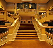 The Grand Marble Staircase - Sir Samuel Way Building - SA. by Michael Tapping