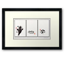 Ink Moonlight Framed Print