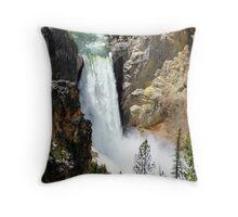 Upper Falls, Yellowstone Canyon Throw Pillow