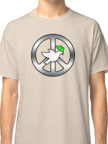 Peace Sign (With dove of Peace) Classic T-Shirt