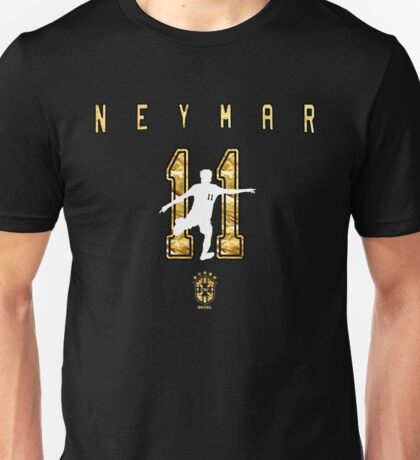 Neymar Gold Design Unisex T-Shirt