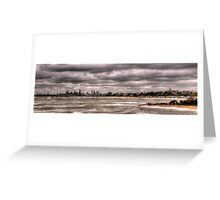Grey Melbourne Day Panorama Greeting Card
