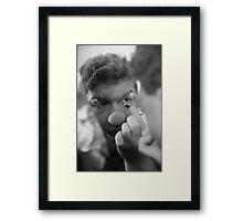 FOOL TIME Framed Print