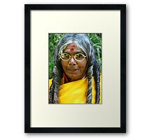 Portrait of Toda woman Framed Print