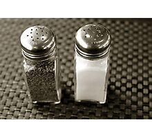 Salt & Pepper Photographic Print