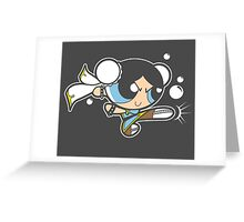 Powerpuff fighter II Greeting Card