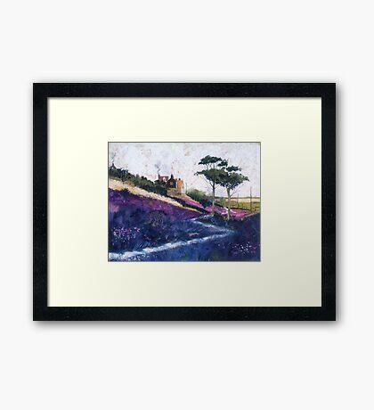 Purple Fields Framed Print