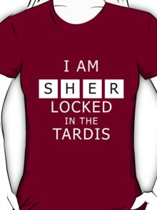 Sherlocked in the Tardis Slate T-Shirt
