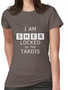 Sherlocked in the Tardis Slate Womens Fitted T-Shirt