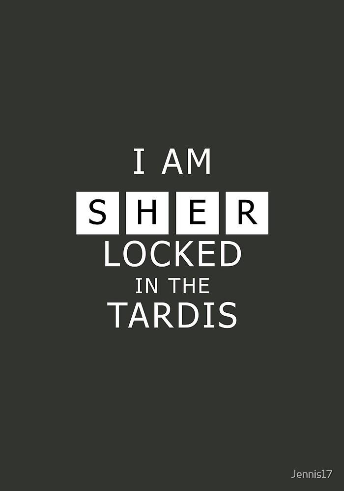 Sherlocked in the Tardis Slate by Jennis17