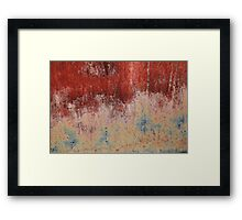 Abstract - Rust  Framed Print