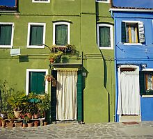 Brightly Painted Houses, Burano, Venice (Italy)  by Petr Svarc