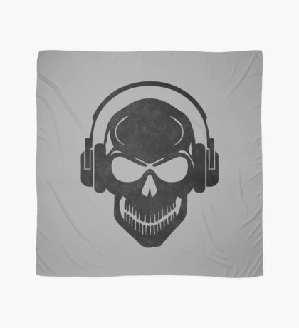 Skull with Headphones - Rave - Electro - Hardstyle Scarf