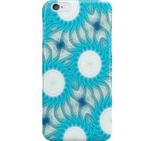 Cyan Glow Kaleidoscope 5 iPhone Case/Skin