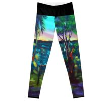 'On the shoreline fires could be seen...' Leggings
