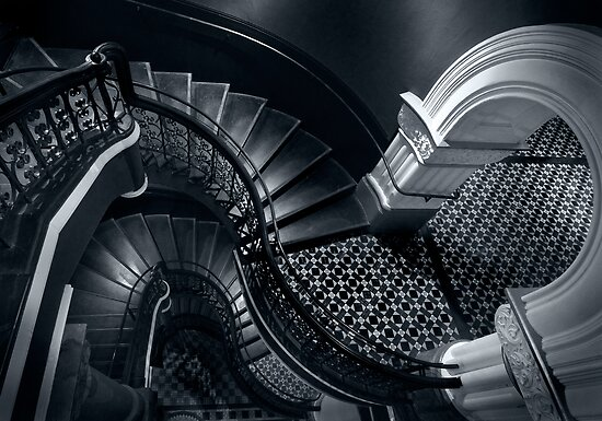 House of Curves (Monochrome) by Michael Garbutt