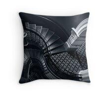 House of Curves (Monochrome) Throw Pillow