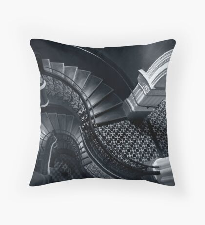 House of Curves (Monochrome) Throw Pillow