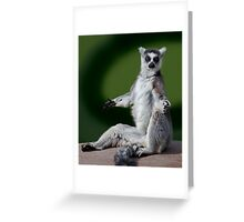 Yoga for Lemurs Greeting Card