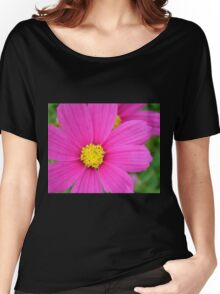 Pink and Yellow Women's Relaxed Fit T-Shirt