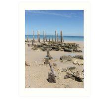 Was Once a Pier at Aldinga Beach Art Print