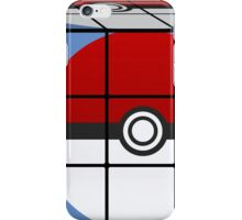Poke Ball Rubik's Cube iPhone Case/Skin