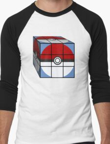 Poke Ball Rubik's Cube Men's Baseball ¾ T-Shirt