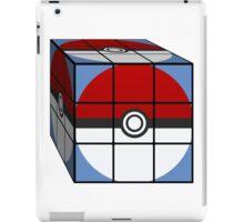 Poke Ball Rubik's Cube iPad Case/Skin