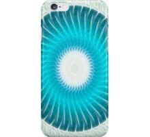 Cyan Glow Kaleidoscope 7 iPhone Case/Skin