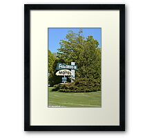 The Patio DRIVE-IN and MOTEL Framed Print