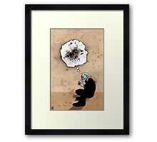 Thoughts of a Dying Atheist Framed Print