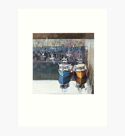 At rest in Crail Harbour Art Print