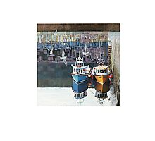 At rest in Crail Harbour Photographic Print