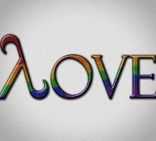 Rainbow Pride Lambda Love by LiveLoudGraphic