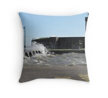 Windy day at Broughty Ferry Throw Pillow
