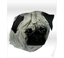 Pug Dog Fine Art Contemporary Acrylic Painting Poster
