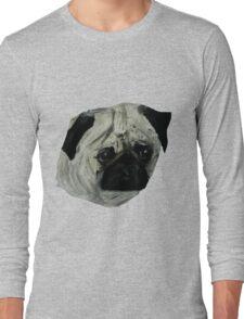 Pug Dog Fine Art Contemporary Acrylic Painting Long Sleeve T-Shirt
