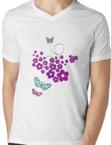 Butterfly Grass Mens V-Neck T-Shirt