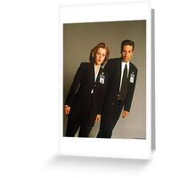 Dana Scully Fox Mulder X Files Gillian Anderson David Duchovny  Greeting Card