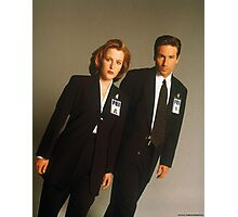 Dana Scully Fox Mulder X Files Gillian Anderson David Duchovny  Photographic Print