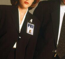 Dana Scully Fox Mulder X Files Gillian Anderson David Duchovny  Sticker