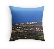 """ And Five miles to the North Portreath"" Throw Pillow"